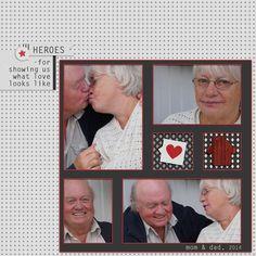 My darling parents. I used: Here & Now by Marisa Lerin  www.PixelScrapper.com #love, #digiscrap