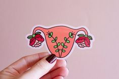 Uterus Enamel Pin Feminist Art- Blooming Uterus Feminist Gift Cuterus Women' Rights Reproductive Rights Girl Power Art Baby Shower Power Tattoo, Frida Art, Reproductive Rights, Car Bumper Stickers, Feminist Art, Illustration, Pin And Patches, Planner Stickers, Girl Power