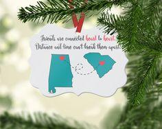 Best Friend Ornament, Christmas Ornament, Aluminum Ornament, Personalized Ornament, Photo Ornament, Friend Gift