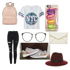 """""""A Stroll in Central Park"""" by lizzie708 ❤ liked on Polyvore featuring Topshop, Aéropostale, Casetify, Linda Farrow, Rebecca Minkoff, Givenchy and rag & bone"""
