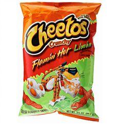 Cheetos Crunchy Flamin' Hot Limón Cheese Flavored Snacks, OZ g ) Lime Hot Cheetos, Cheetos Cheese, Cheetos Crunchy, Cheese Chips, Cheese Snacks, Hot Snacks, Junk Food Snacks, Chips Brands, Food Goals