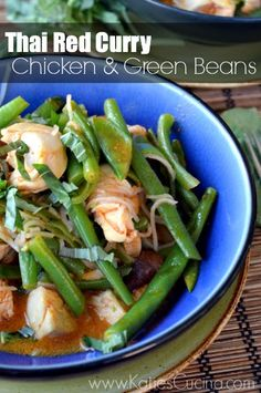 Thai Red Curry: Chicken & Green Beans #recipe #Thai #Takeout