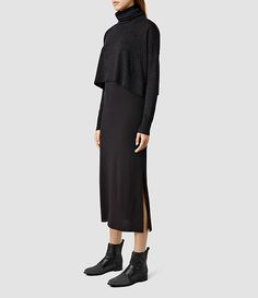 Womens Chase Dress (CINDER MARL/BLACK) - product_image_alt_text_2