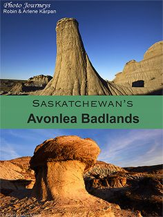 Surprising Avonlea Badlands in southern Saskatchewan with stunning landscape of weathered buttes, pillars, eroded cliffs. The badlands are easy to visit. Us Travel, Places To Travel, Places To See, Travel Destinations, Scenery Photography, Night Photography, Landscape Photography, Voyage Canada, Saskatchewan Canada