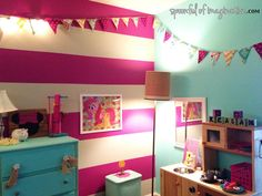 my little pony paint colors for bedroom | So, what about you!? Do you have a My Little Pony fan? You could ... Girl Bedroom Walls, Accent Wall Bedroom, Bedroom Paint Colors, Little Girl Bedrooms, My Little Pony Bedroom, Girls Room Paint, Girls Bedroom Colors, Girl Bedroom Designs, Girl Room