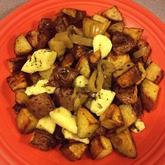 Roasted Potatoes with Garlic, Cheese Curds, Pickled Peppers and Pork Belly