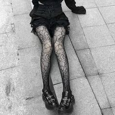 Gothic Tights Stockings Black
