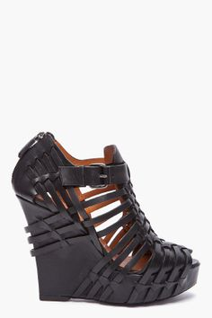 $1,190.00 Givenchy Woven Wedge Sandals