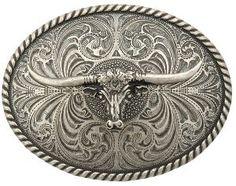 Montana Silversmiths® Large Steer Head Buckle   Cavender's