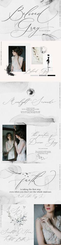 Beloved Gray -Fine Art Font - Script