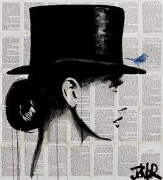 "Saatchi Art Artist Loui Jover; Drawing, ""top hat"" #art"