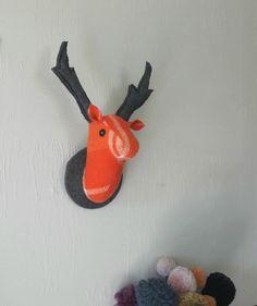 Stag Head, Wool Blanket, Antlers, Deer, Fleece Blanket Edging, Horns, Deer Heads, Reindeer