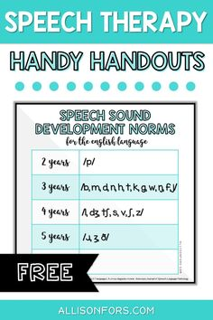 Free speech therapy printables for SLPs, educators, and parents. Download developmental norms and more. Use for quick reference, parent education, and as functional decor! #speechtherapy #speechtherapyfreebies #freespeechtherapy #slpeeps Speech Language Pathology, Speech Therapy Activities, Speech And Language, Articulation Activities, Autism Teaching, Teaching Resources, Parent Resources, Speech Delay, Special Education Teacher