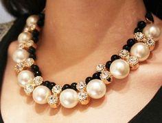 Vintage Style Pearl Rhinestone.. Swarovski