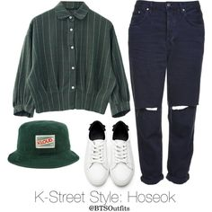 K-Street Style: Hoseok by btsoutfits on Polyvore featuring mode and Topshop