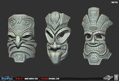 tiki mask 3D - Buscar con Google
