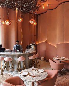 36 Best Ideas For Design Restaurant Interior Coffee Shop Restaurant Interior Design, Commercial Interior Design, Home Interior, Modern Interior Design, Luxury Interior, Contemporary Interior, Contemporary Bar, Restaurant Furniture, Interior Colors