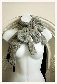 elephant scarf cowl