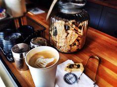 Café Buzz on the Pańska street → Gdańsk. Coffee and something sweet.