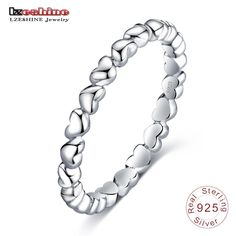 ad5c7193add LZESHINE Romantic Ring For Women Authentic 925 100% Solid Sterling Silver  Forever Love Finger Ring
