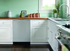 You can save thousands on a kitchen remodel by refurbishing your cabinets and it's the green way to go. To be fit for reuse, the cabinets must work with your layout, and the units must be plumb, square, and sturdy. Delamination, either from peeling veneers or plywood layers coming apart, is a sign