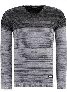 BlackRock byJeel Jeans Herren Strickpullover Pulli Pullover Jumper Grau-Schwarz