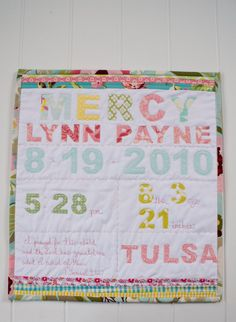 Birthday Mini Quilt by fortheloveofjoy on Etsy