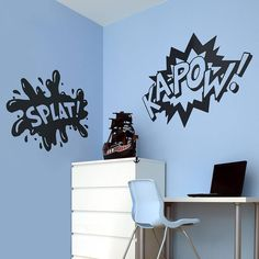 comic strip words vinyl wall stickers by oakdene designs | notonthehighstreet.com