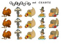Free printable Thanksgiving stickers, free Thanksgiving printables and turkey printables