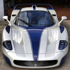 Visit The MACHINE Shop Café... (Best of Maserati @ MACHINE) Blue and White Maserati MC12