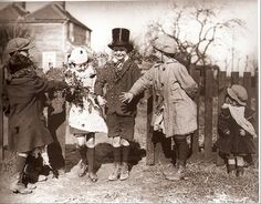 Children playing wedding