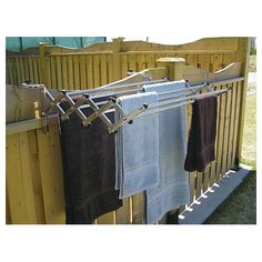 This heavy-duty expandable laundry rack by Greenway has 8 aluminum rods and is great for towels and sheets. It can easily be placed on any balcony, fence, RV, pool shed or in your laundry room or basement. Wall Mounted Drying Rack, Pool Shed, Pool Storage, Kayak Storage, Laundry Rack, Laundry Dryer, Clothes Drying Racks, Sr1, My Pool