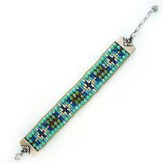 Chili Rose Beadz Turquoise & Green Bracelet at The Maverick Western Wear