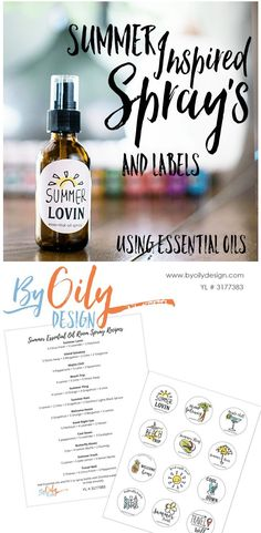 12 Essential oil room spray recipes inspired by summer you are going to love. Do… - Holistic Health Essential Oils Room Spray, Essential Oils For Pain, Essential Oil Uses, Young Living Essential Oils, Essential Oils Labels, Teacher Gifts, Salt Scrubs, Aromatherapy, Bottles