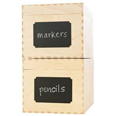 Martha Stewart Chalkboard Labels, 63 x 95 mm, 12 Pack. So I know where