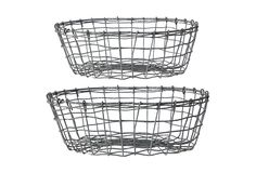 S/2 Metal Baskets on One Kings Lane today