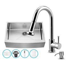 Pazo Pazo All In One 33 Inch Farmhouse Stainless Steel Kitchen Sink And  Chrome Faucet Set   *Plumbing Fixtures U003e Sinks*   Pinterest   Sinks, Stainless  Steel ...