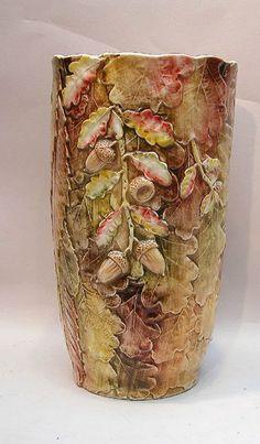 Hand painted Italian Acorn vase made for Neiman Marcus