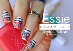 Tropical Summer Nail Art ⚓   Essie Summer 2016 Collection! - YouTube
