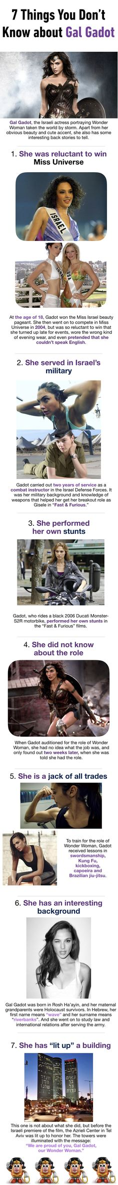 7 Facts You Don't Know About Gal Gadot - Visit to grab an amazing super hero shirt now on sale!