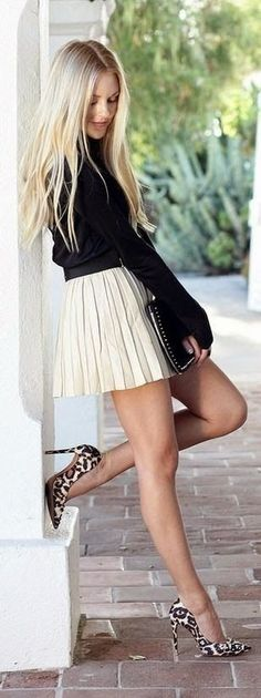Luv to Look | Luxury Fashion & Style: Elegant street fashion blonde