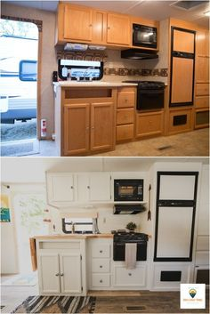 Trailer Renovation. Before and after.