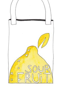A lemon print design for a canvas bag. Yellow and white colours, illustrated in watercolour and ink. Created for the book launch of Sour Fruit a debut novel by Eli Allison. Sour Fruit, Say Her Name, Grace Jones, Lemon Print, Fiction Novels, Book Launch, Watercolor And Ink, The Book, Print Design