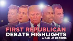 Bad Lip Reading somehow manages to make the first GOP presidential debate even more absurd Lol, First Debate, Gop Debate, Gop Candidates, Lip Sync, Political Satire, I Laughed, Laughter, Youtube