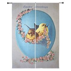 Easter Greetings 1909 Curtains on CafePress.com