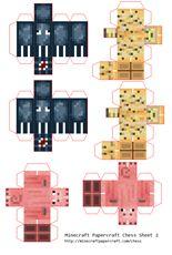 more Minecraft Papercraft
