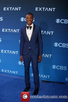 Sergio Harford @ California Science Center for 'Extant' premiere wearing a royal blue tuxedo
