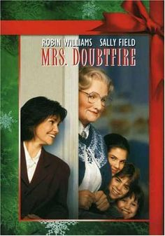 *MRS DOUBTFIRE, (1993) Poster: After a bitter divorce, an actor disguises himself as a female housekeeper to spen secret time with his children held in her custody. Starring: Robin Williams, Sally Fioeld, & Pierce Brosnan.