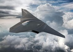 Boeing F X, fighter aircraft, clouds, Concept, U. Stealth Aircraft, Fighter Aircraft, Military Aircraft, Drones, Avion Drone, American Air, American History, Native American, F22 Raptor