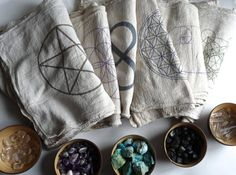 CRYSTAL GRID CLOTHS set of 6 100% cotton all by CrystalGrids